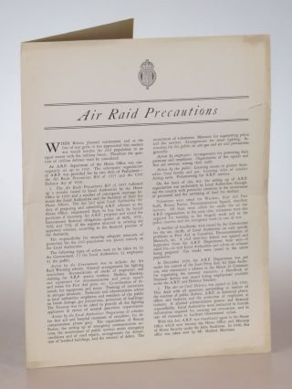 Air Raid Precautions. British Library of Information
