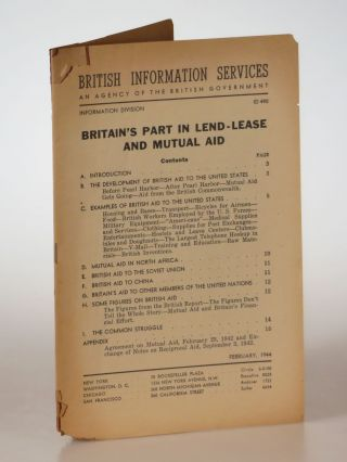 Britain's Part In Lend-Lease and Mutual Aid. British Library of Information