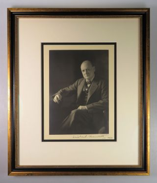 Original studio print of a photograph of Winston S. Churchill taken by Edward Frederick Foley, signed by both Churchill and the photographer in 1932