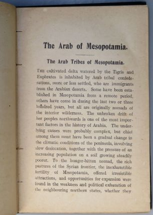 The Arab of Mesopotamia