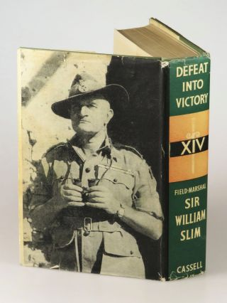"Victory from Defeat, an author's presentation copy of ""the best English-language army commander's memoir of the twentieth century"" inscribed twice by Field Marshal William Slim, 1st Viscount Slim, to a fellow soldier with a 1966 letter autograph letter signed by Slim on Windsor Castle stationery"