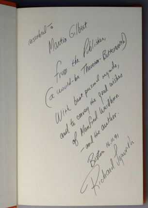 India, a presentation copy inscribed by the publisher, Richard M. Langworth, to Churchill's Official Biographer, Sir Martin Gilbert