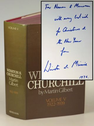 Winston S. Churchill, The Official Biography, Volume V, 1922-1939, inscribed by Winston...