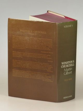 Winston S. Churchill, The Official Biography, Volume V, 1922-1939, inscribed by Winston Churchill's namesake grandson in the year of publication