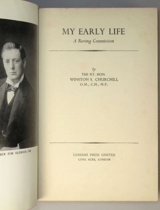 My Early Life, signed by Churchill
