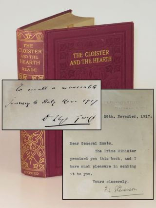 The Cloister and the Hearth, a First World War presentation copy inscribed by British Prime...