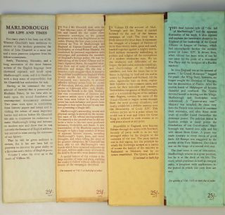 Marlborough: His Life and Times, full set of four British first edition, first printings in dust jackets