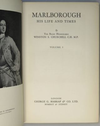 Marlborough: His Life and Times, full set of four British first edition, first printings in dust jackets, each volume housed in a full crimson morocco Solander case