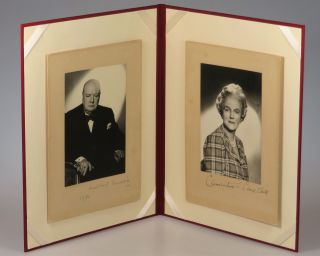 A striking pair of original photographic studio portraits by Vivienne of both Winston S....