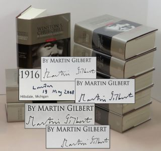 Winston Churchill, The Official Biography, complete in eight volumes, volumes III-VI each signed...