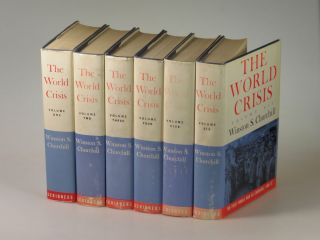 The World Crisis, the unabridged, second American issue from first edition plates, this set formerly owned by Britain's Imperial War Museum