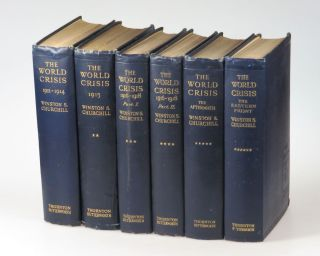The World Crisis, full set of six British first edition, mixed printings. Winston S. Churchill