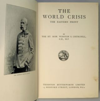 The World Crisis, full set of six British first edition, mixed printings