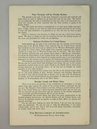 Britain's Strength: Speech by the Prime Minister, the Rt. Hon. Winston Churchill, in the House of Commons, August 20, 1940