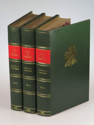 The War Speeches of the Rt. Hon. Winston S. Churchill, magnificently bound in full green morocco