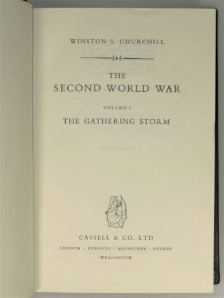 The Second World War, a full, six-volume set in the exceptionally rare full Morocco presentation binding of the British first edition commissioned by Churchill himself for the publishers