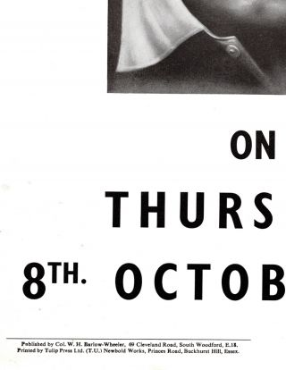 An original 1959 campaign poster from Winston S. Churchill's Woodford constituency featuring Churchill during the final political campaign of his life