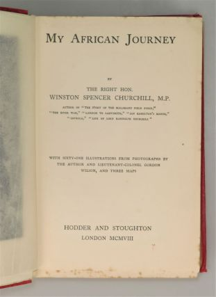 My African Journey, the hardcover colonial issue of the first edition