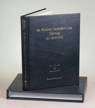 Sir Winston Churchill's Life Through His Paintings, leather bound limited edition in the publisher's original leather slipcase and presentation box, copy #975