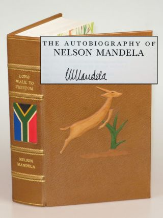 Long Walk to Freedom, the British first edition in a magnificent fine binding and signed by...
