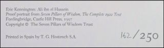 Seven Pillars of Wisdom: a triumph, the complete 1922 'Oxford' text, four volume limited and numbered edition of 1997