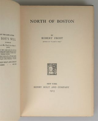 North of Boston, noteworthy for interesting provenance associated with American Poet Laureate Edwin Markham