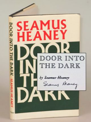 Door Into The Dark, signed by the author. Seamus Heaney
