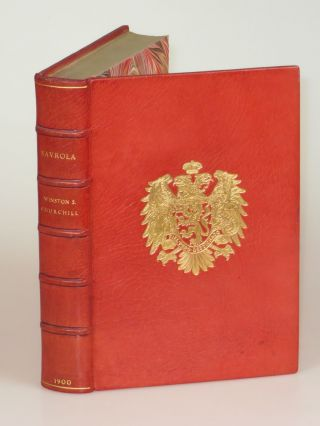 Savrola, finely bound in full Niger Morocco for Henry Sotheran, Ltd. Winston S. Churchill