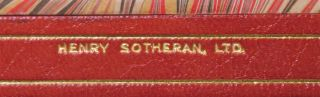 Savrola, finely bound in full Niger Morocco for Henry Sotheran, Ltd.