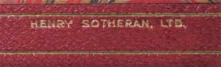 London to Ladysmith via Pretoria, finely bound in full Niger Morocco for Henry Sotheran, Ltd.