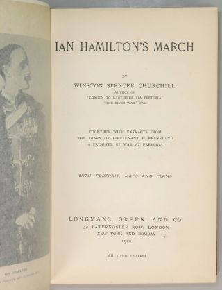 Ian Hamilton's March, finely bound in full Niger Morocco for Henry Sotheran, Ltd.