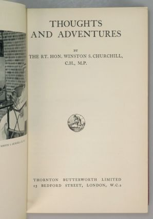 Thoughts and Adventures and Painting as a Pastime, finely bound together in full Niger Morocco for Henry Sotheran, Ltd.