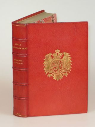 Great Contemporaries, finely bound in full Niger Morocco for Henry Sotheran, Ltd. Winston S....