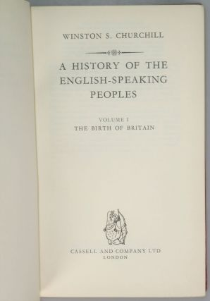 A History of the English-Speaking Peoples, a full set of four first editions finely bound in full Niger Morocco for Henry Sotheran Ltd.