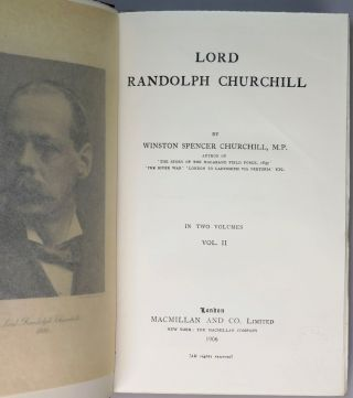 Lord Randolph Churchill, a publisher's presentation set