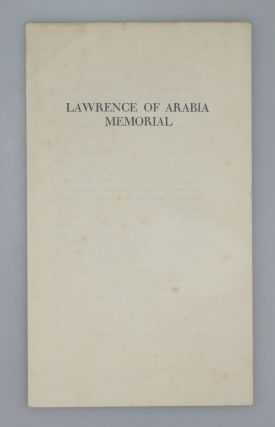Lawrence of Arabia Memorial. Lawrence of Arabia Memorial Committee