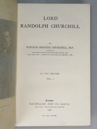 Lord Randolph Churchill, The Times Book Club issue of the first edition