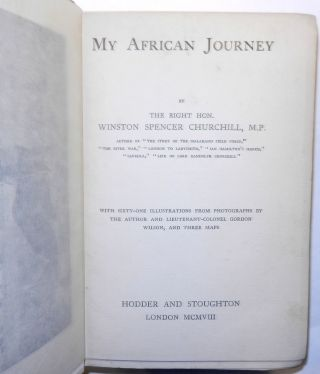 My African Journey, Colonial issue of the first edition, the copy of Times of India, Bombay