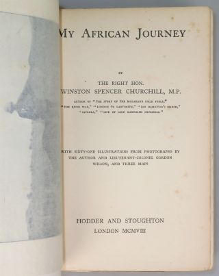 My African Journey, the exceptionally rare first edition colonial issue bound in illustrated card covers