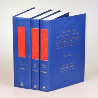 A Bibliography of the Writings of Sir Winston Churchill, complete in three volumes, each signed by the author