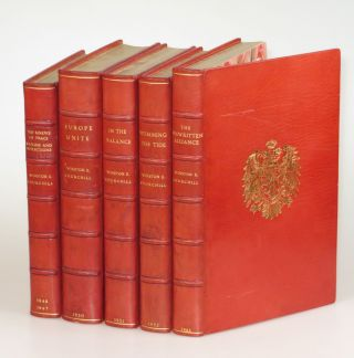 The Postwar Speeches, a full set of first editions finely bound in full Niger Morocco for Henry...