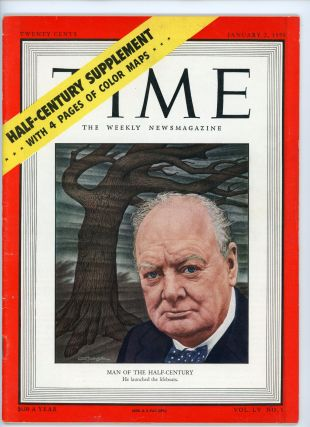 """A complete collection of each of Winston Churchill's seven appearances on the cover of TIME Magazine spanning 1923 to 1951, including both of his scarce 1920s appearances and his appearances as """"Man of the Year"""" and """"Man of the Half-Century"""""""
