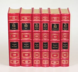 The World Crisis, the full leather Easton Press edition in six volumes