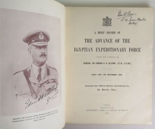 A Brief Record of the Advance of the Egyptian Expeditionary Force Under the Command of General Sir Edmund H. H. Allenby