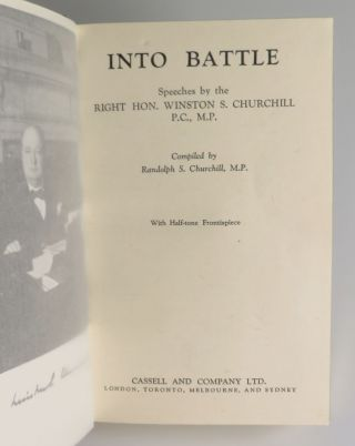 Into Battle, finely bound in full calf by Bayntun-Riviere