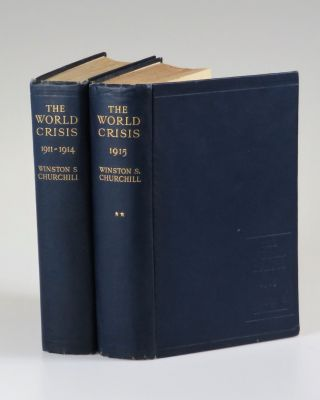 The World Crisis 1911-1914 and 1915, the complete first Australian Edition in Dust Jackets