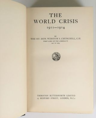 The World Crisis, full set of six British first edition, first printings