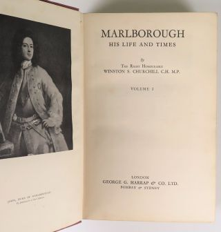 Marlborough: His Life and Times, full set of four British first edition, first printings