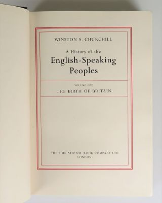 A History of the English-Speaking Peoples, Chartwell Edition