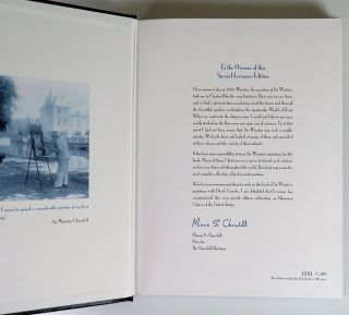 Sir Winston Churchill's Life Through His Paintings, leather bound limited edition in the publisher's original box, cloth bag, and leather slipcase, copy #1231
